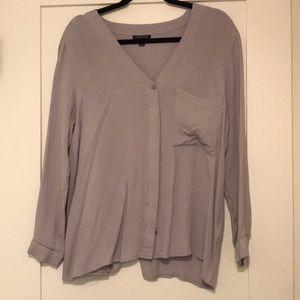 Pale Gray Topshop blouse